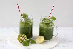 Superfood, Juice Smoothie, Mason Jars, Mugs, Drinks, Tableware, Breakfast, Green Smoothies, Mint