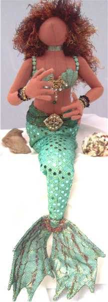 african american mermaid doll  www.etsy.com/shop/paintedthreads2 SOLD
