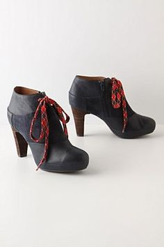 Argyle lace  booties, Anthropologie