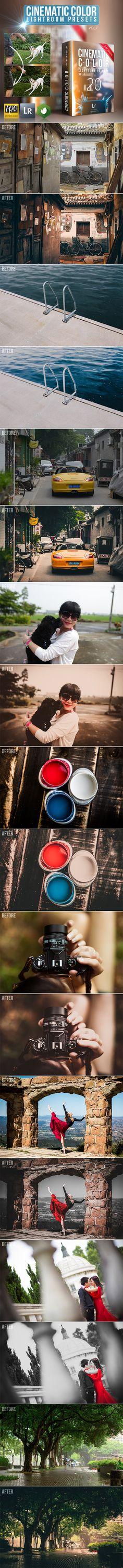 20 Cinematic Color Lightroom Presets #photography Download: http://graphicriver.net/item/20-cinematic-color-lightroom-presets/11894873?ref=ksioks
