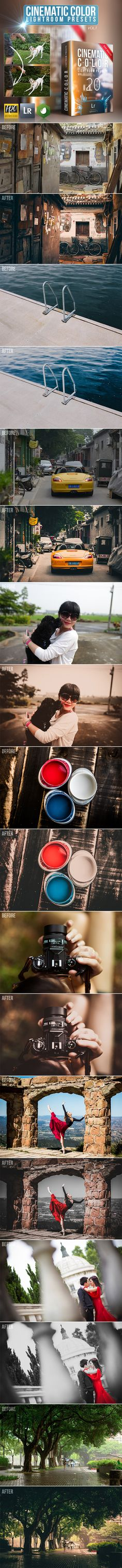 20 Cinematic Color Lightroom Presets #photography Download: http://graphicriver.net/item/20-cinematic-color-lightroom-presets/11894873?ref=ksioks
