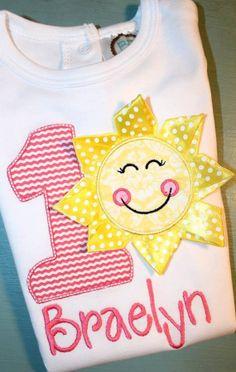 SUNSHINE RIBBON You Are My Sunshine Birthday by SweetOandTDesigns, $25.00