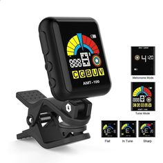Amazon.com: Guitar Tuner,Getaria AT-200D Universal Portable Clip-on Electric Tuner Three Colors Backlit Screen for Guitar Chromatic Bass Ukulele: Musical Instruments #GuitarTuner