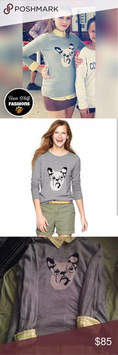 ASO Teen Wolf Gap French bulldog sweater 💖 Lydia Martin Gap French bulldog sweater   size Large as seen on Teen Wolf💖 shirt not included #teenwolffashion #lydiamartincosplayer #twcosplay #teenwolfcosplay #lydiamartincosplay #lydiacosplay #bansheecosplay #bansheelydiacosplay #mccallpackcosplay #teenwolffashion #teenwolfcosplaychallenge #teenwolfcloths #teenwolfclothes #teenwolfclothing #teenwolfclothsforsale GAP Sweaters V-Necks