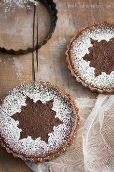 Tartelettes au Chocolat  als Dessert für ein weihnachtliches Festmahl