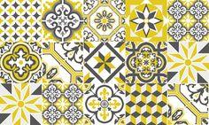 Tapis Vinyle Carreaux de Ciment - Collection Ginette de Ciment Factory : www.cimentfactory.com
