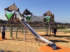 New Berliner Seilfabrik Trii structure recently installed in Cragieburn, Victoria.