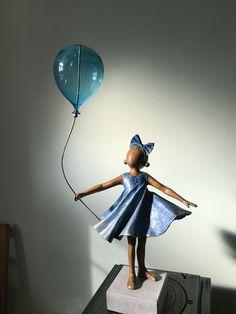 Made by Babke Moelee www. Aluminum Foil Art, Statues, Spirit, Dolls, Gifts, Felting, Sculptures, Art, Ceramics