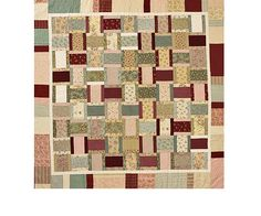 Feminine Quilting Project -Combine red, green, and pink with a range of neutrals for a pastel color scheme with softness.