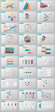 Business infographic : 30 three dimensional charts PowerPoint template