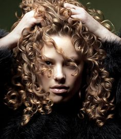 Beautiful, spiral curls