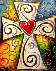 Colorful Cross painterspaletteutah.com