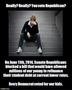 If only students were corporations than republicans would not only cut their loan rate but give them a subsidy and an offshore tax break.