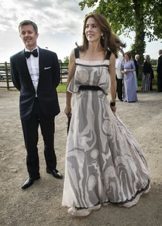 Crown Prince Frederik and Crown Princess Mary of Denmark were guests at Count Ditlev Knuth-Winterfeldt's birthday party, on Thursday.