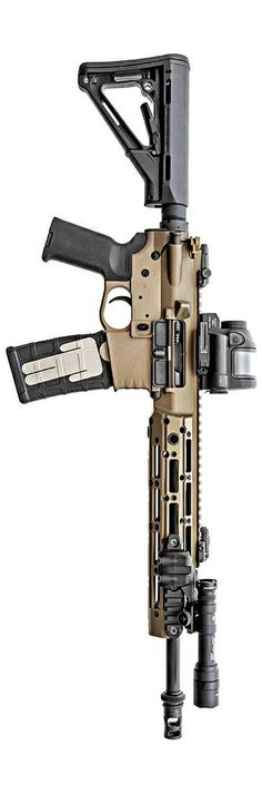 CMT Tactical billet lower with Remington upper. Love the figure on the ammo clip Tactical Rifles, Tactical Survival, Firearms, Shotguns, Assault Weapon, Assault Rifle, Home Defense, Self Defense, Airsoft
