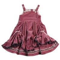 bustle, lace, ruffles, bows ... total girlie dress!