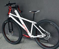 「Varibike Mountainbike」は、太いタイヤとディスクブレーキが特徴
