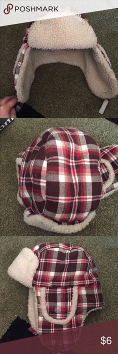 Boys winter hat Plaid, very warm for the brutal winter. Used but in excellent condition. Size 8 an up Gymboree Accessories Hats