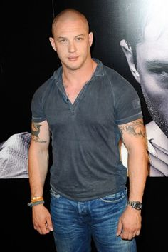Tom Hardy (Like him better with hair but dang! He has some Nice Muscles.)