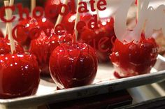 kitchen photography red candy apples food sweet by pinestreetphoto