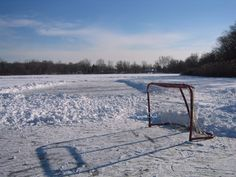 Rinks cleared and ready on Lake Chipican in Canatara Park, Sarnia! Skating here has been a tradition for generations!