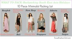 What to Pack: Backpacking South East Asia Holidays featuring Travel Outfits #travel #packinglist #SEA via TravelFashionGirl.com