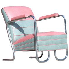 Pink Art Deco Style Jazz Club Chair in the by HarveysonBeverly, $1750.00