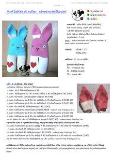 Zajic | Návody na háčkované hračky Crochet Hats, Toys, Minecraft, Amigurumi, Eye Circles, Knitting Hats, Toy, Games, Beanie Boos