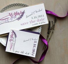 Lavanda in Love - Wedding rustico salva la data card, viola - acquisto per avviare il processo di ordinazione
