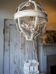 Hot air balloon birdcage large ornate French by AnitaSperoDesign