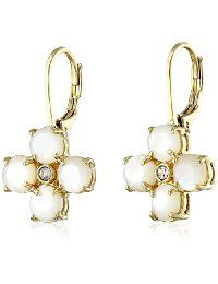 "kate spade new york ""Central Park Pansy"" Leverback Drop Earrings"