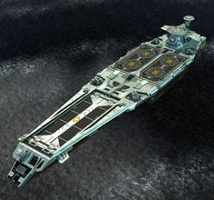 aircraft carrier (looks like a space ship - doh)
