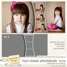 Pickleberrypop :: Layout Templates :: Your classic photobook Vol.25 (Jasmin-Olya Designs)