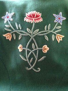 Norway, Needlework, Textiles, Brooch, Jewellery, Embroidery, Flowers, Brooch Pin, Dressmaking