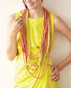 Braided Dupioni Silk Necklace