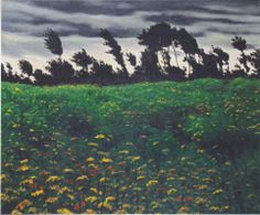 The blossoming field - Felix Vallotton