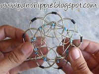 Pano Hippie: Como fazer mandala tridimensional com arame