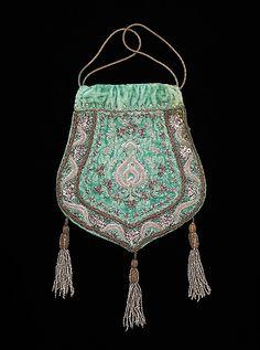 Bag (Pouch), Evening  Date: ca. 1915 Culture: French Medium: silk, metal