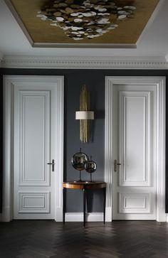 Home Depot Bedroom Doors Luxury Interior, Home Interior Design, Interior Architecture, Interior Decorating, Modern Classic Interior, Interior Door Trim, Hall Interior, Living Room Designs, Living Room Decor