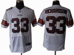 Browns #33 Trent Richardson white elite NFL Jersey  ID:9131760  $23