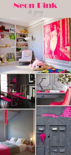 Touch of Neon: Neon Pink and Grey
