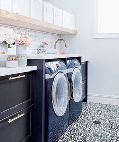Late night Pinterest perusing and came up with this stunning laundry room!! Kind of makes you want to do laundry, doesn't it?! Using this as inspiration for an upcoming project ... just love everything about it!! Pinning lots of fun stuff lately for a huge project coming up if you'd like to follow along...just search ZDesign At Home over there to find me.  If you know the source for this great space please let me know so I can give proper credit to the owner/designer.