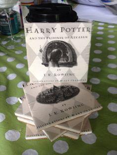 DIY Harry Potter coasters. B/c everyone should use coasters :)
