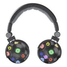 Retro Records Custom DJ Style Headphones by #MoonDreamsMusic #DJHeadphones #RetroRecords #CustomHeadphones