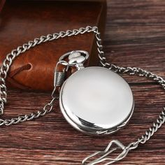 Buy Smooth Silver Men Women Quartz Pocket Watch FOB Chain Full Hunter Gift at Wish - Shopping Made Fun Quartz Pocket Watch, Silver Pocket Watch, Short Human Hair Wigs, Gifts For Hunters, Wigs For Black Women, Silver Man, Vintage Silver, Watches For Men, Jewelry Watches