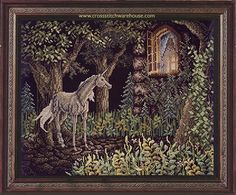 Needlecraft and crossstitch patterns Fantasy Cross Stitch, Unicorn, Moose Art, Pattern, Animals, Animales, Animaux, Patterns, A Unicorn