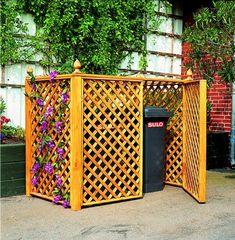 Cache Poubelle Double: Syma Mobilier Jardin -abri poubelle,rangements jardin,equipement poubelle,
