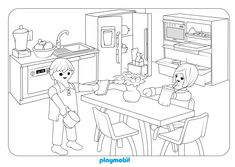 ausmalbilder playmobil puppenhaus   ausmalbilder