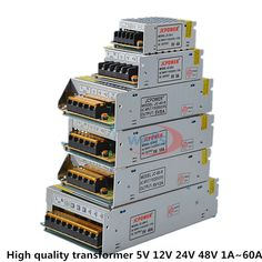 Cheap supply power, Buy Quality led light directly from China power adapter led Suppliers: LED Lighting Switching Power Supply AC Power Adapter For Strip lights surveillance video 1 Amp - 60 Amp Bar Lighting, Strip Lighting, Buy Led Lights, Chips Brands, Power Led, Lamp Bulb, Led Strip, Transformers, Band