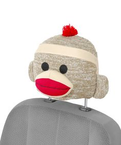 Look what I found on #zulily! Sock Monkey Seat Cap by Bell Automotive #zulilyfinds